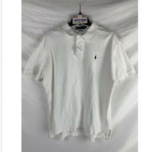 Polo by Ralph Lauren Men's White Polo Shirt Sz L